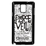 Pierce The Veil Music Band Group Fabric Art Cloth Poster Samsung Galaxy Note 4 Case (Black) Front