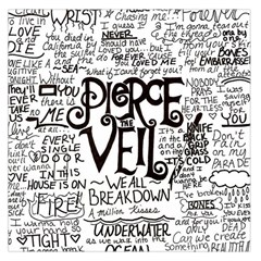 Pierce The Veil Music Band Group Fabric Art Cloth Poster Large Satin Scarf (square)