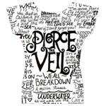 Pierce The Veil Music Band Group Fabric Art Cloth Poster Women s V-Neck Cap Sleeve Top Back