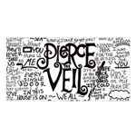 Pierce The Veil Music Band Group Fabric Art Cloth Poster Satin Shawl Front