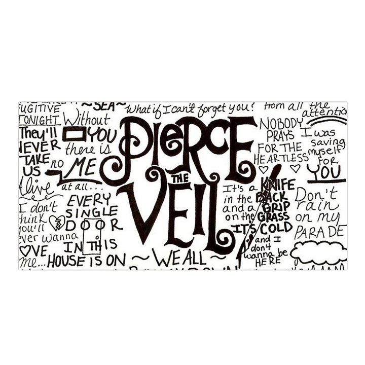 Pierce The Veil Music Band Group Fabric Art Cloth Poster Satin Shawl
