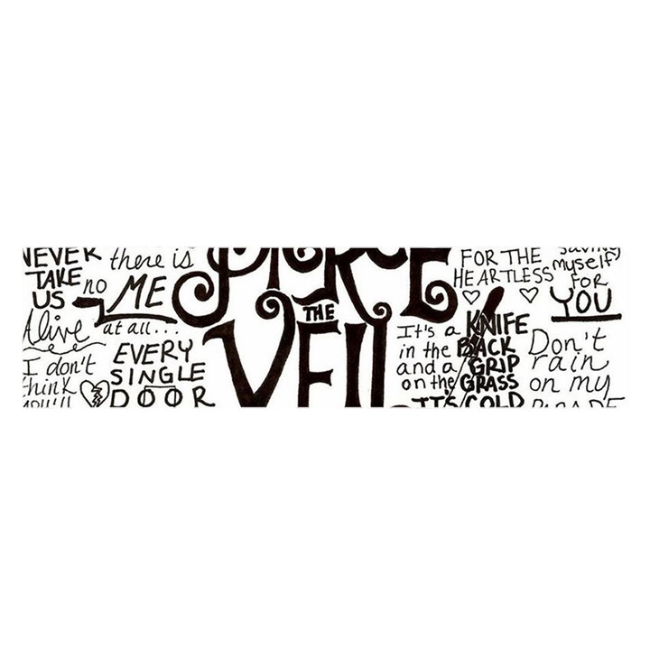 Pierce The Veil Music Band Group Fabric Art Cloth Poster Satin Scarf (Oblong)