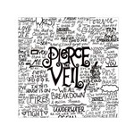 Pierce The Veil Music Band Group Fabric Art Cloth Poster Small Satin Scarf (Square) Front