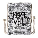 Pierce The Veil Music Band Group Fabric Art Cloth Poster Drawstring Bag (Large) Front