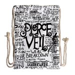 Pierce The Veil Music Band Group Fabric Art Cloth Poster Drawstring Bag (Large) Back