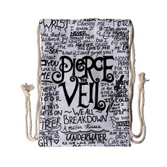 Pierce The Veil Music Band Group Fabric Art Cloth Poster Drawstring Bag (small)