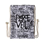 Pierce The Veil Music Band Group Fabric Art Cloth Poster Drawstring Bag (Small) Back