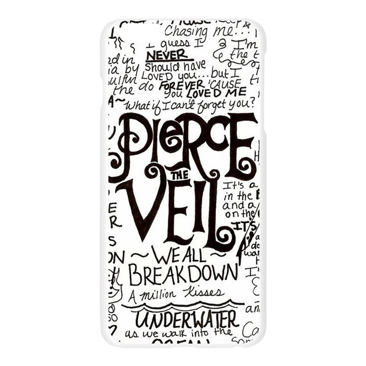 Pierce The Veil Music Band Group Fabric Art Cloth Poster Apple Seamless iPhone 6 Plus/6S Plus Case (Transparent)