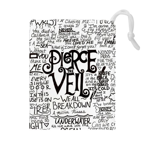 Pierce The Veil Music Band Group Fabric Art Cloth Poster Drawstring Pouches (Extra Large)