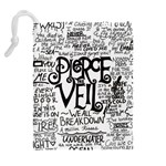 Pierce The Veil Music Band Group Fabric Art Cloth Poster Drawstring Pouches (Extra Large) Back