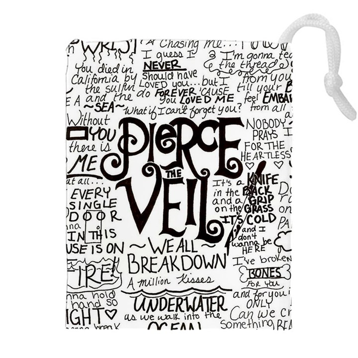 Pierce The Veil Music Band Group Fabric Art Cloth Poster Drawstring Pouches (XXL)