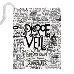 Pierce The Veil Music Band Group Fabric Art Cloth Poster Drawstring Pouches (XXL) Back