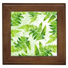 Fern Leaves Framed Tiles