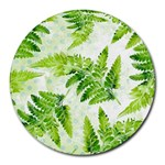 Fern Leaves Round Mousepads Front