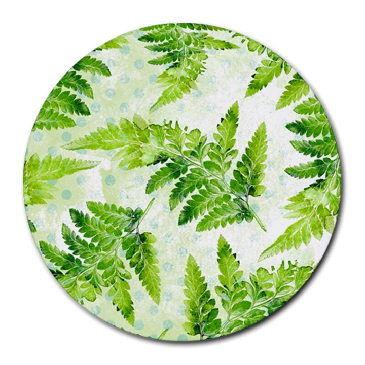 Fern Leaves Round Mousepads