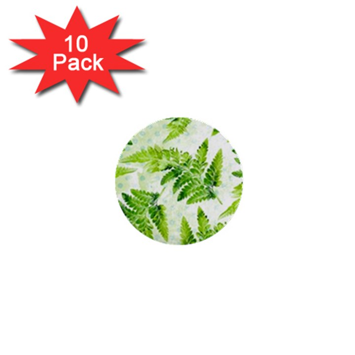 Fern Leaves 1  Mini Buttons (10 pack)