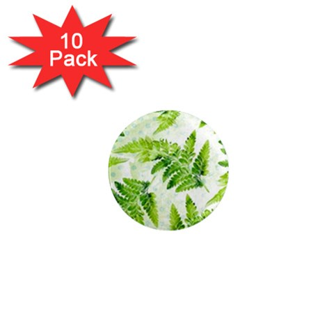 Fern Leaves 1  Mini Magnet (10 pack)