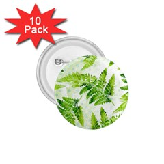 Fern Leaves 1 75  Buttons (10 Pack)