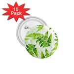 Fern Leaves 1.75  Buttons (10 pack) Front