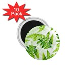 Fern Leaves 1.75  Magnets (10 pack)  Front