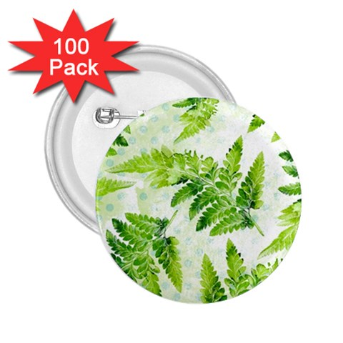 Fern Leaves 2.25  Buttons (100 pack)
