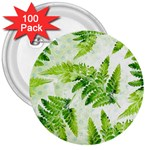 Fern Leaves 3  Buttons (100 pack)  Front