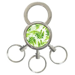 Fern Leaves 3 Ring Key Chains