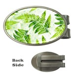 Fern Leaves Money Clips (Oval)  Front