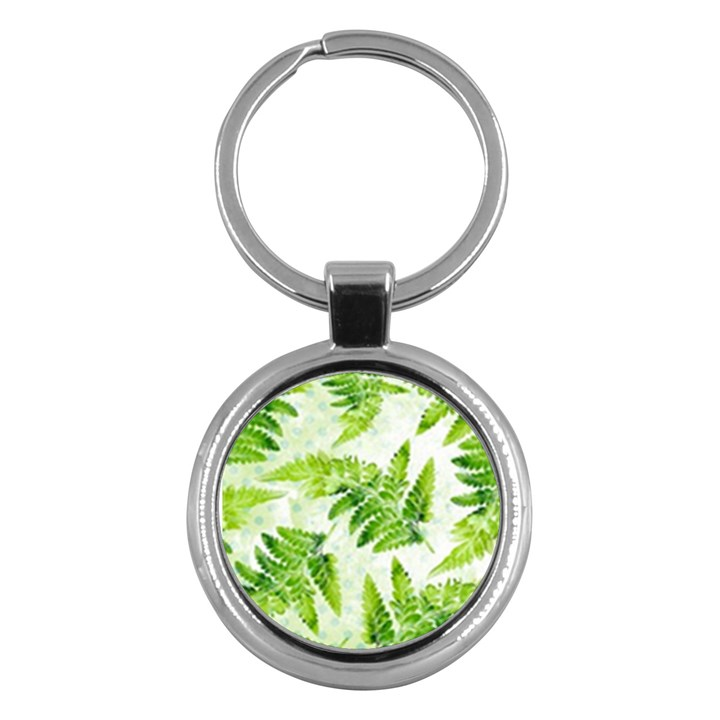 Fern Leaves Key Chains (Round)