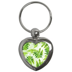 Fern Leaves Key Chains (heart)