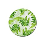 Fern Leaves Rubber Round Coaster (4 pack)  Front