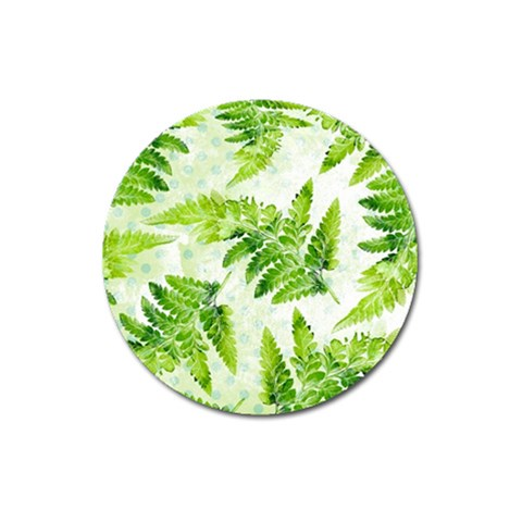 Fern Leaves Magnet 3  (Round)
