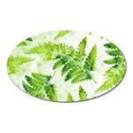 Fern Leaves Oval Magnet Front