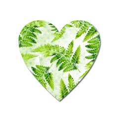 Fern Leaves Heart Magnet