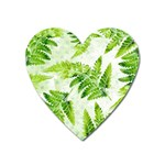 Fern Leaves Heart Magnet Front