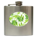 Fern Leaves Hip Flask (6 oz) Front