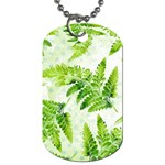 Fern Leaves Dog Tag (Two Sides) Back