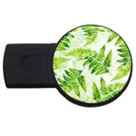 Fern Leaves USB Flash Drive Round (1 GB)  Front