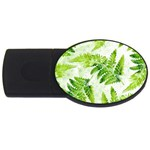 Fern Leaves USB Flash Drive Oval (1 GB)  Front