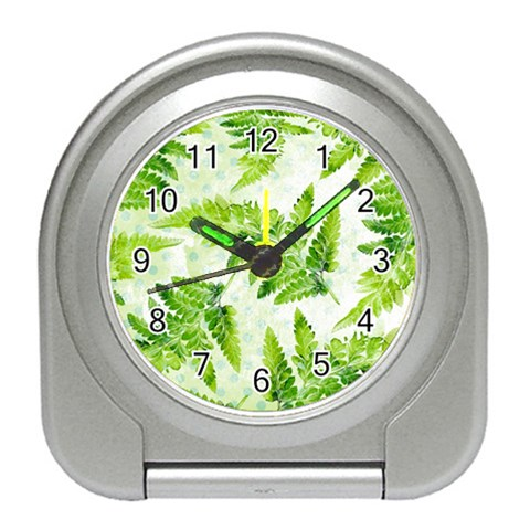 Fern Leaves Travel Alarm Clocks