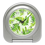 Fern Leaves Travel Alarm Clocks Front