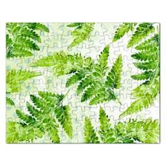 Fern Leaves Rectangular Jigsaw Puzzl