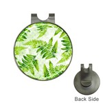 Fern Leaves Hat Clips with Golf Markers Front