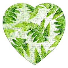 Fern Leaves Jigsaw Puzzle (Heart)