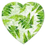 Fern Leaves Jigsaw Puzzle (Heart) Front