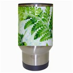 Fern Leaves Travel Mugs (White) Center