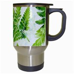 Fern Leaves Travel Mugs (White) Right