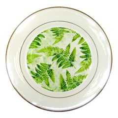 Fern Leaves Porcelain Plates