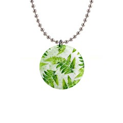 Fern Leaves Button Necklaces
