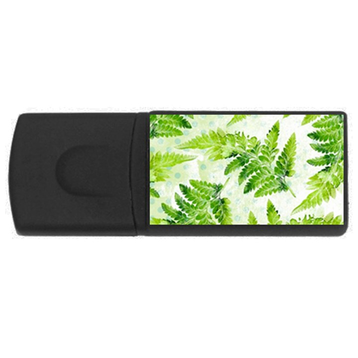 Fern Leaves USB Flash Drive Rectangular (4 GB)